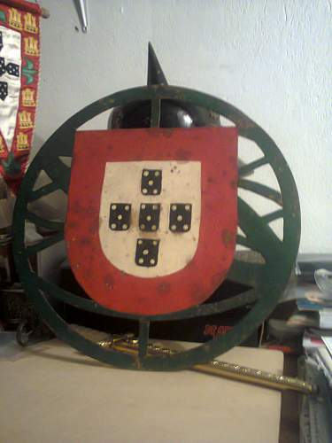 portuguese youth base symbol from headquartes in Leiria i hope you like it its a very rare piece