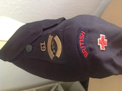 WW2 British Red Cross tunic and treasures in pockets