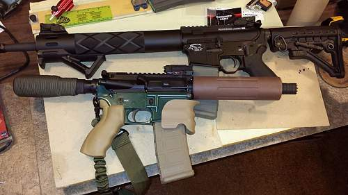 Click image for larger version.  Name:2 ar 15 builds.jpg Views:626 Size:89.3 KB ID:673951