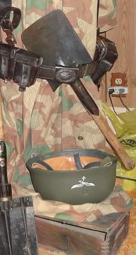 German Paratrooper On Half Manequin Uniform Form