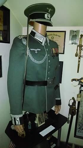 My first german tunic display