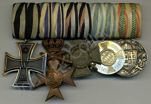 My Medal Bars and Single Mounted Medals Collection