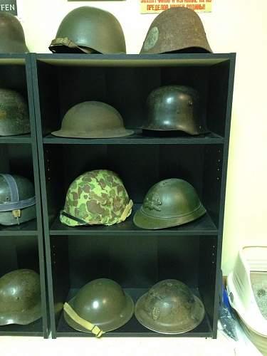 My wall o' helmets/room display