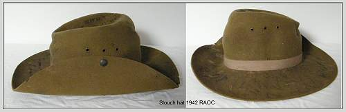 Click image for larger version.  Name:P6 Slouch hat 42 RAOC s.jpg Views:34 Size:168.1 KB ID:699933