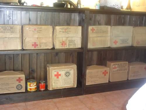 My New POW Red Cross Box Display