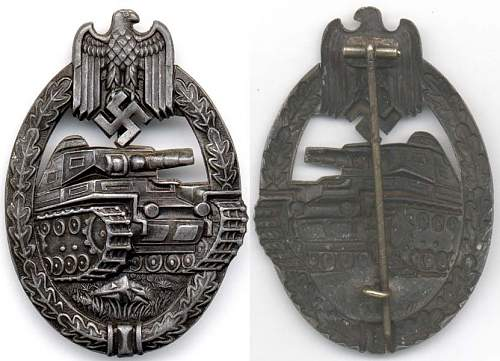 Click image for larger version.  Name:Tank Badge  bronze cut out swastika.jpg Views:28 Size:98.0 KB ID:708465