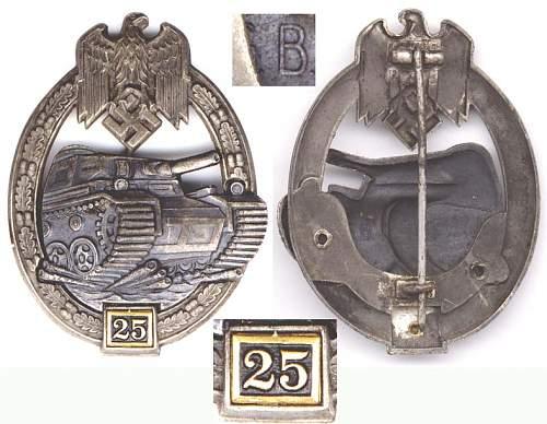 My Modest Panzerkampfabzeichen Collection