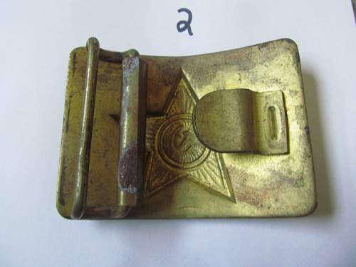 ww2 post ww2 greman and russsian belt buckles real or fake?????
