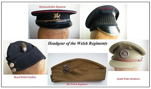 Click image for larger version.  Name:welsh regiments caps v2c.jpg Views:92 Size:230.7 KB ID:736713