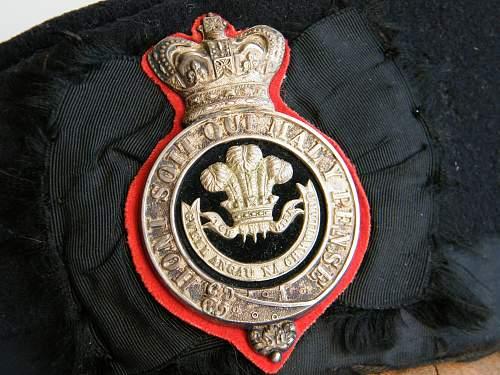 Click image for larger version.  Name:Welsh regiment VB officers glengarry 1881 to 1896 e.jpg Views:17 Size:231.7 KB ID:742744
