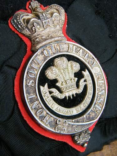 Click image for larger version.  Name:Welsh regiment VB officers glengarry 1881 to 1896 d.jpg Views:17 Size:217.6 KB ID:742745