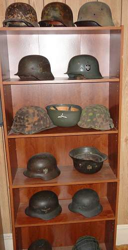 New Display Moved Around  On Helmet Shelf