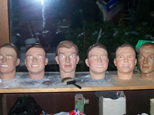 The making of a dummy head for display purpose