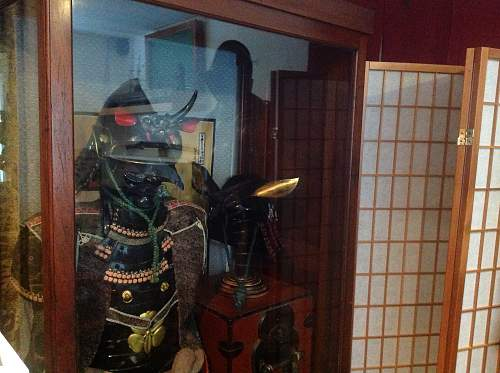 At last a case to display Japanese armour and helmet