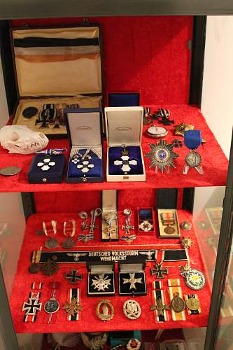 My one year old Medal collection! ..and other stuff!