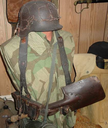 Some Field Gear on a Half Bust Heer Normandy Man