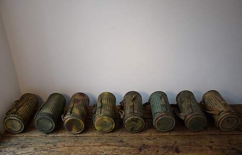 My collection of camo gas masks