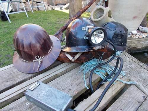 post ww2 mining helmets