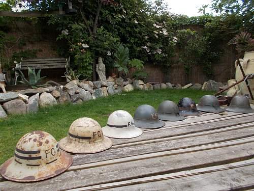 my british Civilian Protection Helmet collection