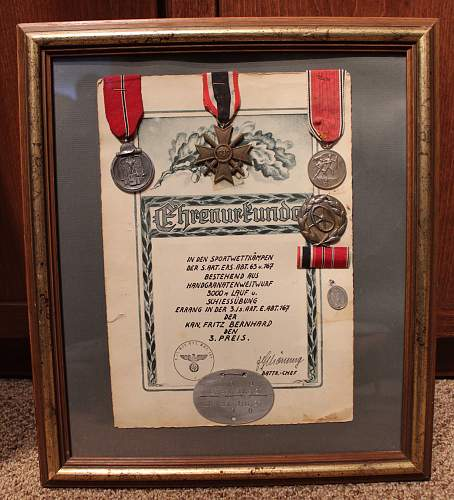 Homemade Display - Diploma with Medals, Medallion, ID tag and badge !