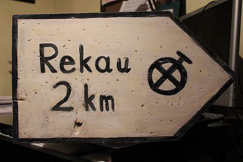 Homemade WWII style German road sign - need feedback !