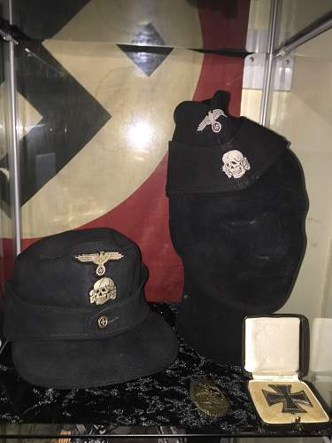 My SS cap collection and other bits