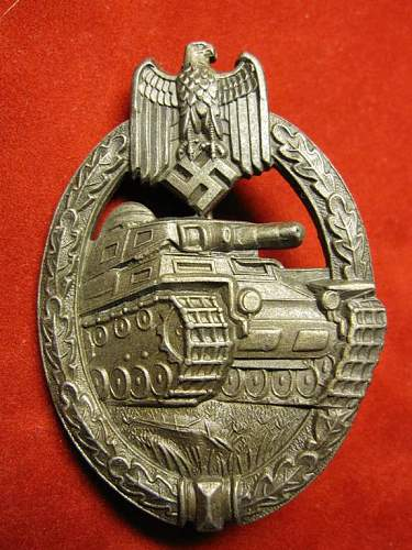 Click image for larger version.  Name:011 Panzer Assault Badge in bronze FLL.jpg Views:1421 Size:88.0 KB ID:93059