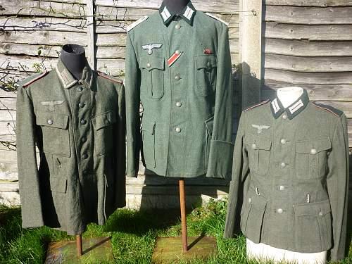 3 German Heer Combat Tunics