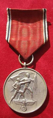 Click image for larger version.  Name:081 Commemorative Medal 13. March 1938.jpg Views:255 Size:51.6 KB ID:93956