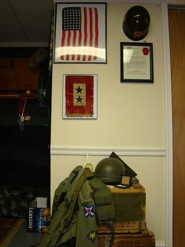 My U.S. Collection Display w/ misc. items.