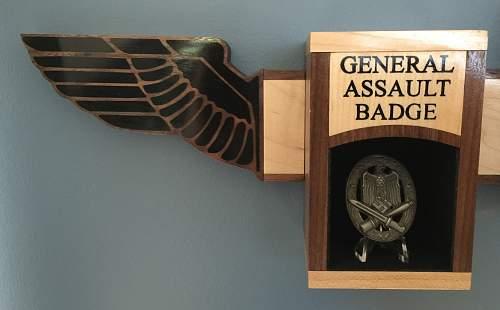 New Custom German Medals Display