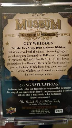For those who collect WW2 Autographs