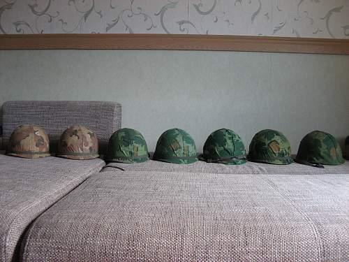 My Vietnam war Helmet collection