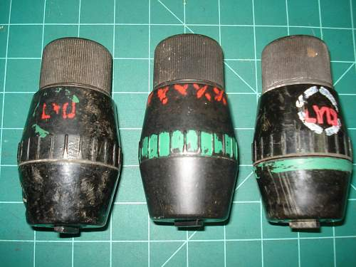 3 Differant types of Markings on My 69 Grenades