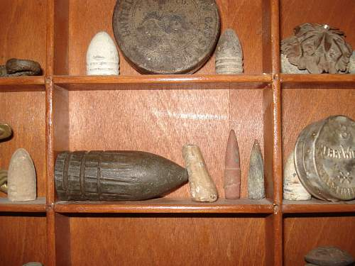 Close ups of Dug 1690s to WW2 Bullets