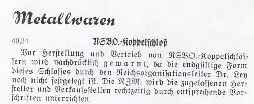 NSBO marked with Frank & Reif Stuttgart 1940