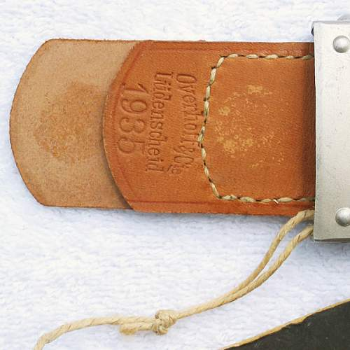 DAF Prototype Buckle with Tag and Wax Seal for review...