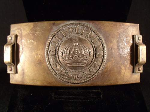 Imperial German WW I Telegraphers Belt Buckle???