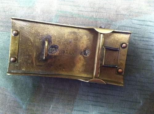 Telegraph Belt buckle: original?