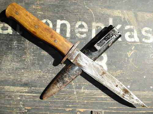 """Wehrmacht-Heer fighting-knife, (""""Bowie-style"""" blade)"""