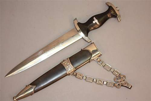 Real or fake RAD hewer, Luft Dagger, SS dagger