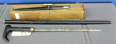 bayonet and sword cane