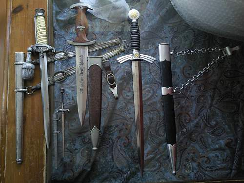 storing the daggers