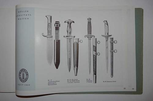 Government Dfficials dagger on Holler catalog1941