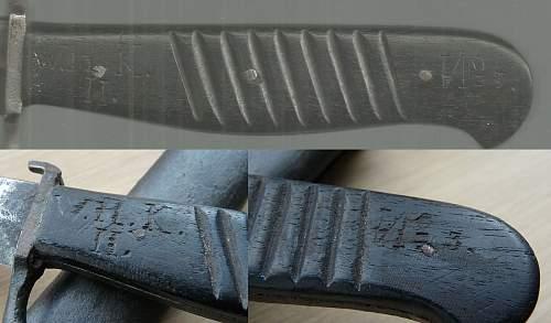 German boot dagger marker mark