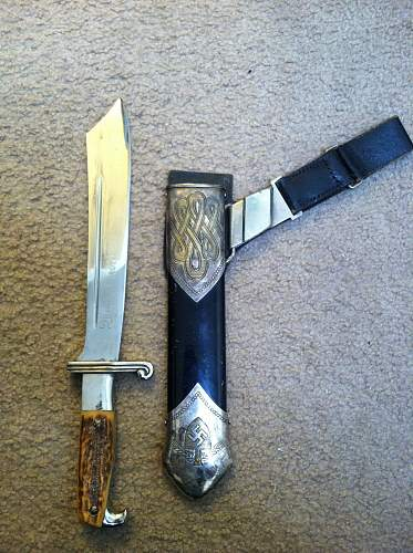 Nice RAD Dagger with Hangar out of the woodwork