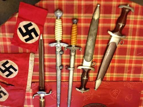 SA, Luftwaffe & Heer daggers.
