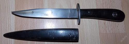 German boot knife with SS grip insert  - good or bad?