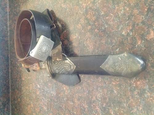 Strange RAD knife with sheath and belt