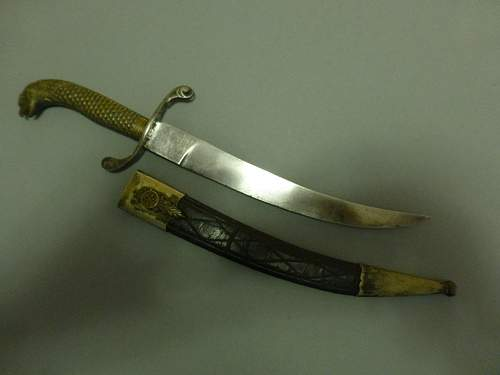 Curved Naval Dirk with Screaming Eagle's head made by F.Herder ANY INFO WELCOME
